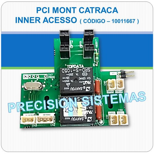 Placa PCI Sensor e Relés de catraca Topdata