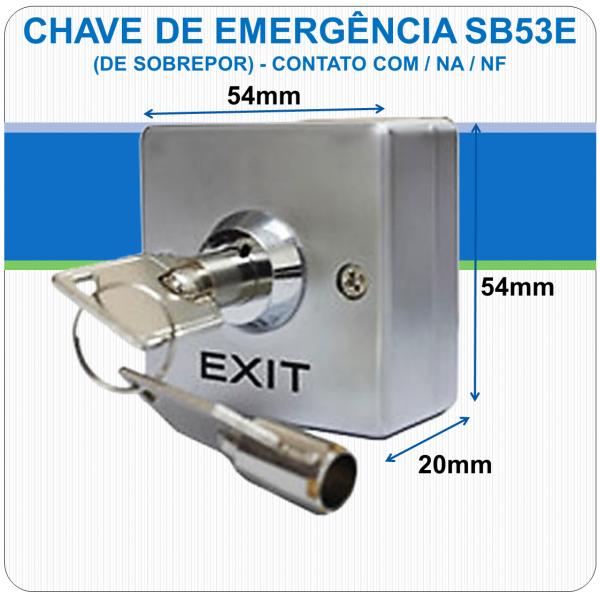 Chave de Emergência de Sobrepor - Contato NF-C-NA