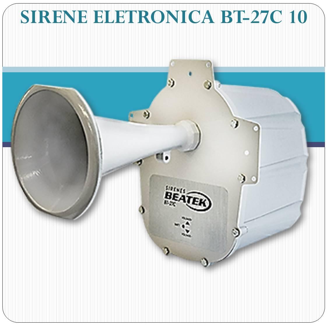 Sirene Eletrônica de Alta Potência BEATEK BT-27C 10