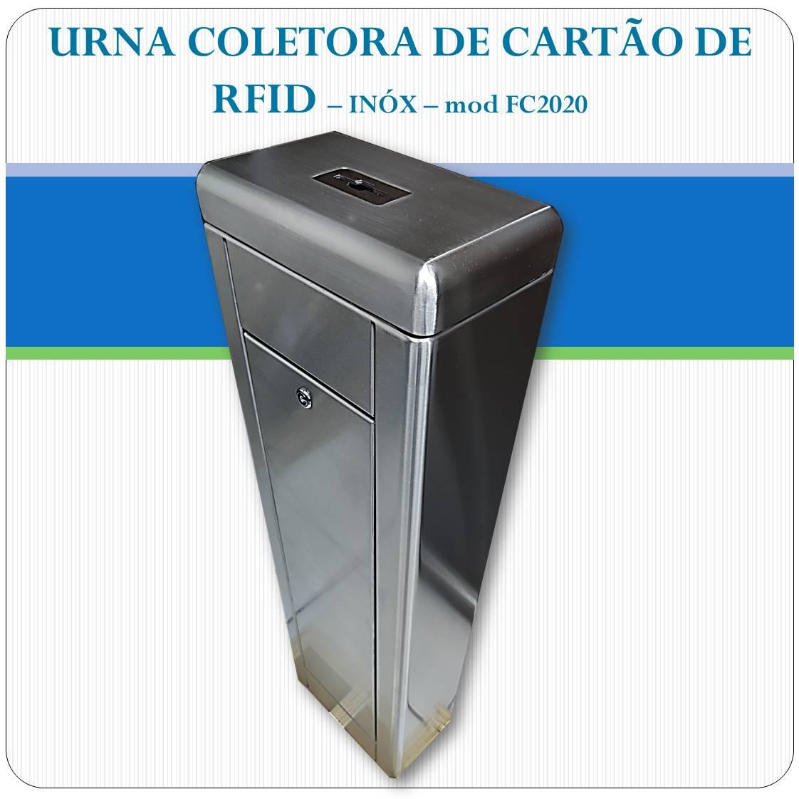 Urna Coletora de cartão RFID - FC2020