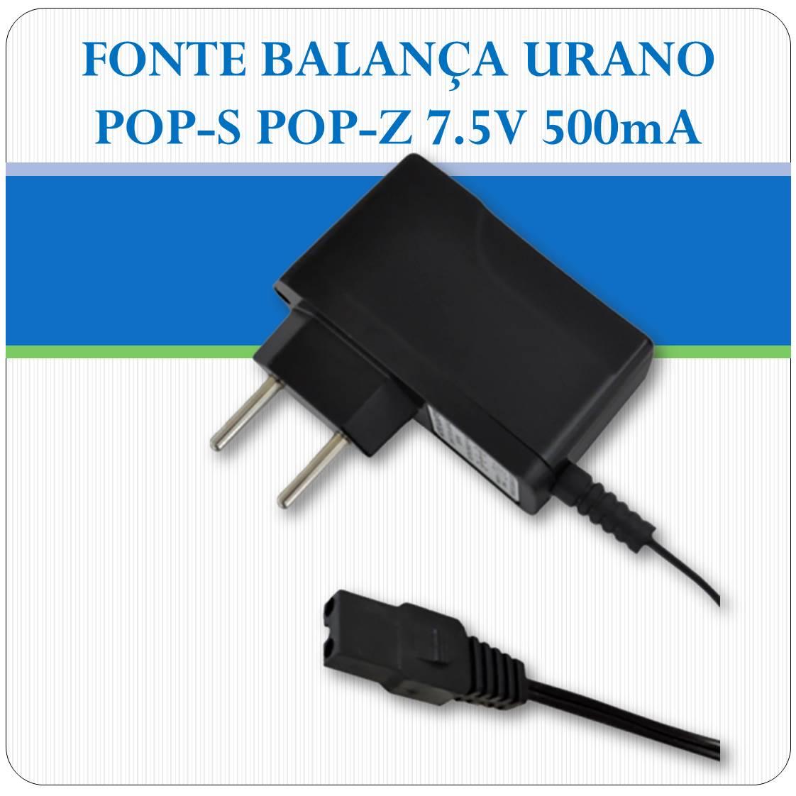 Fonte Balança Urano Pop Z ou Pop S 7.5V 500mA