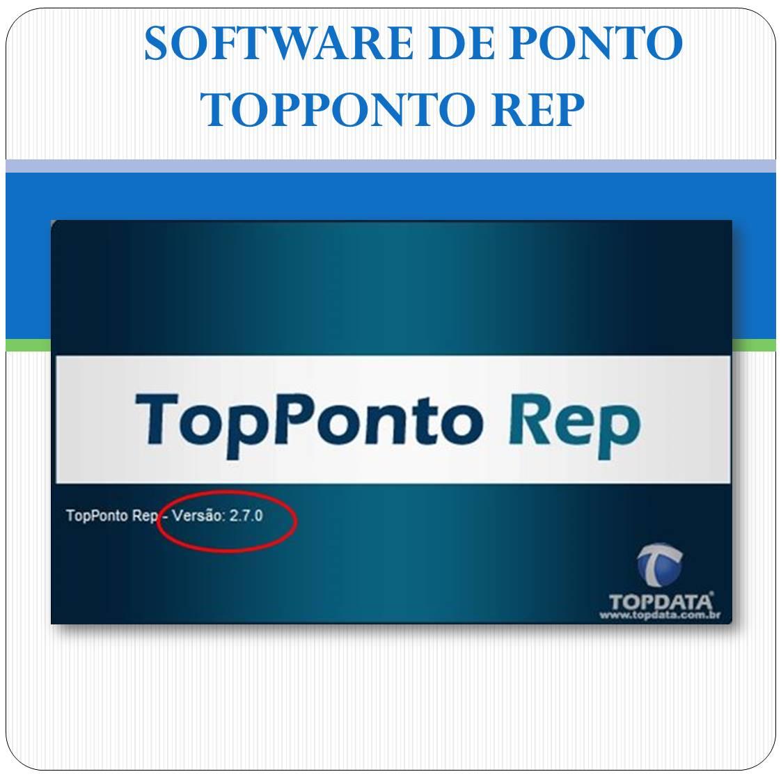 Software de Tratamento de Ponto - TopPonto REP