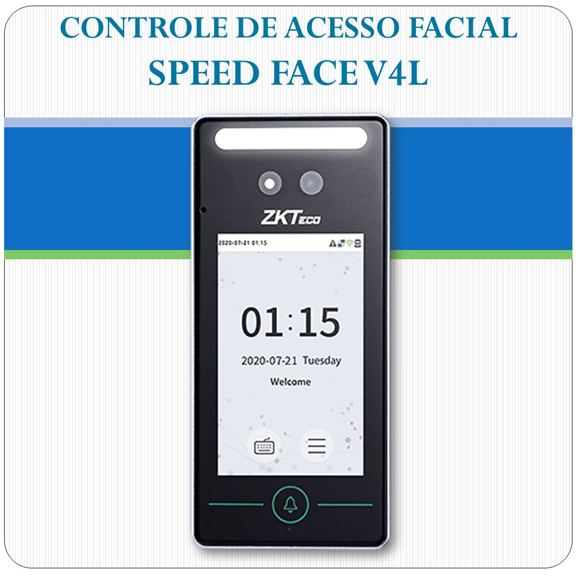 Controle de Acesso Facial - SpeedFace V4L