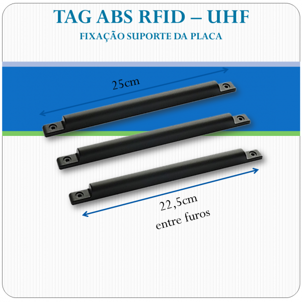 Tag UHF Veicular - ABS uso externo