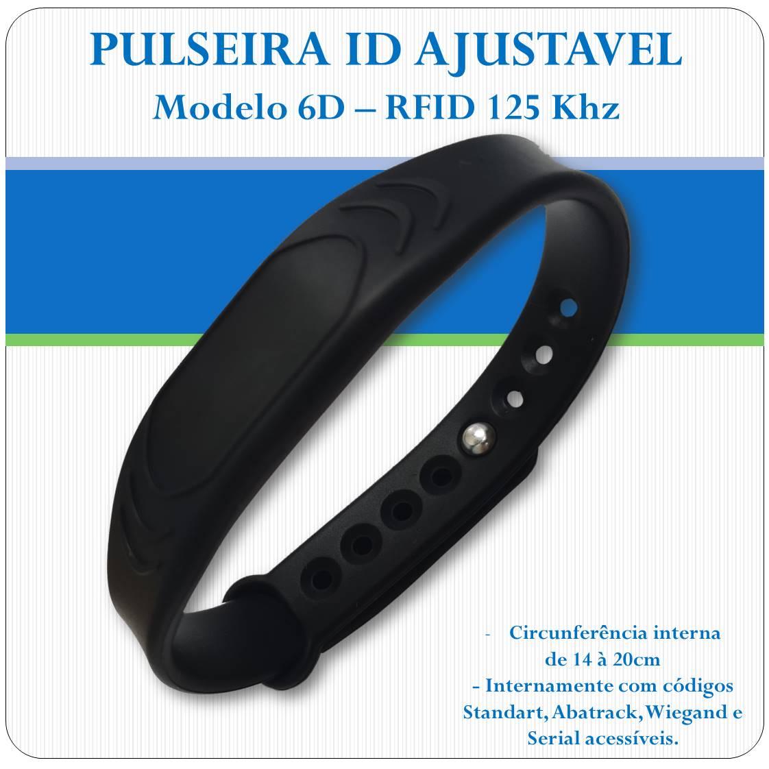 Pulseira RFID proximidade - 125 Khz - Ajustavel - 6D