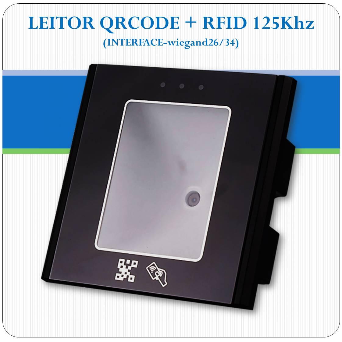 Leitor De Qrcode E Rfid 125khz Integrados - Interface Wieg26