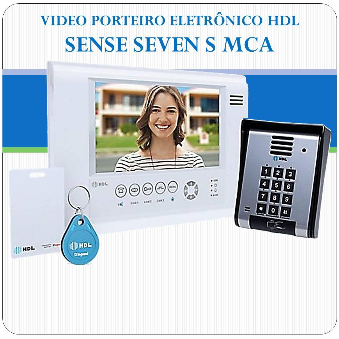 Video Porteiro Eletrônico HDL - Sense Seven S MCA