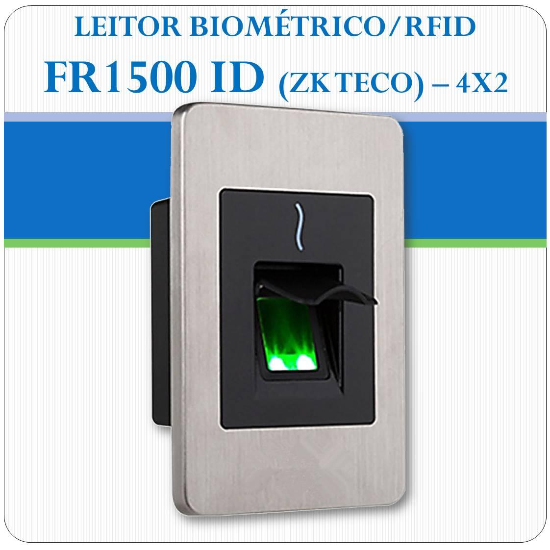 Leitor Biométrico + RFID FR1500 ID (escravo)
