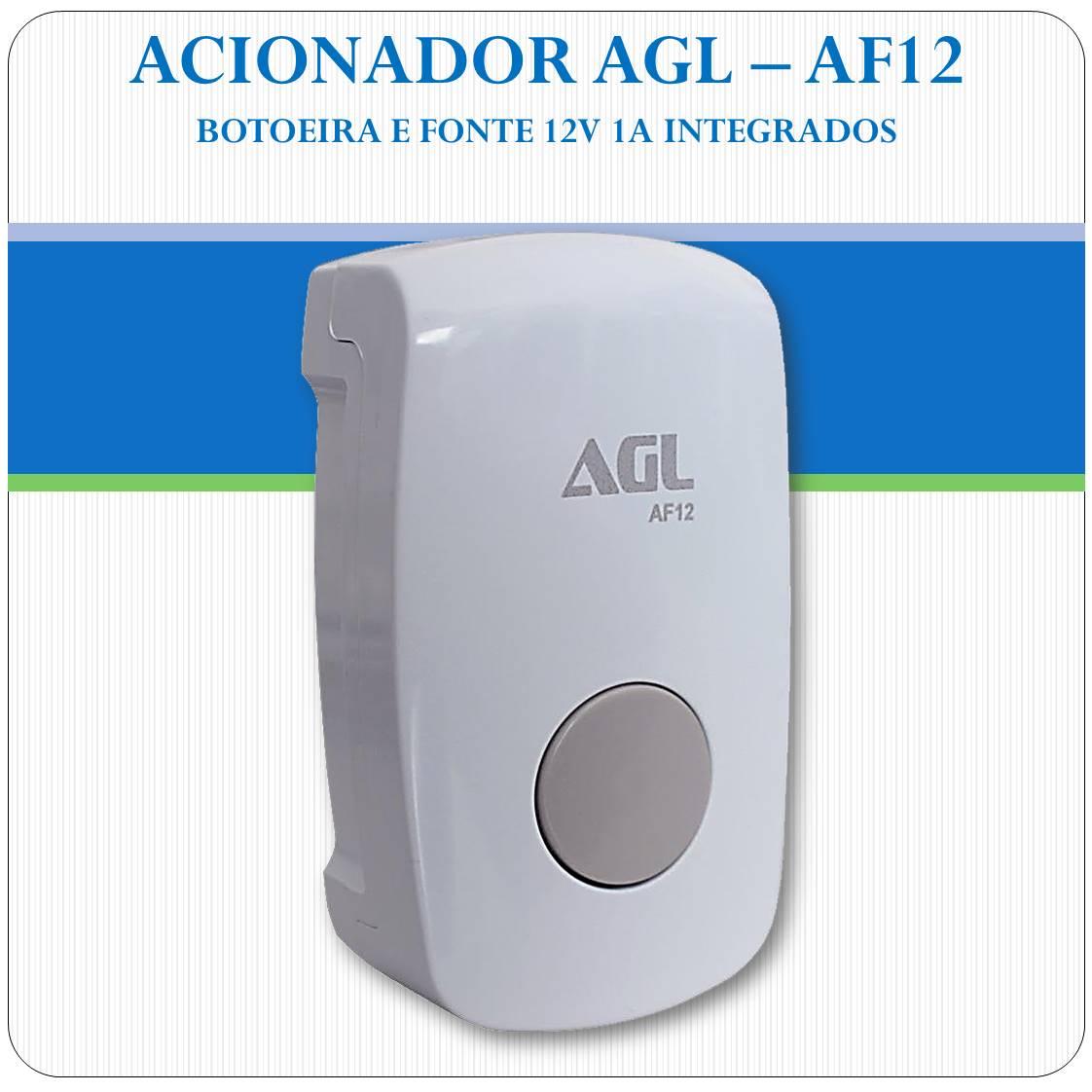 Botoeira Agl Af12 - Para Fechaduras Elétricas