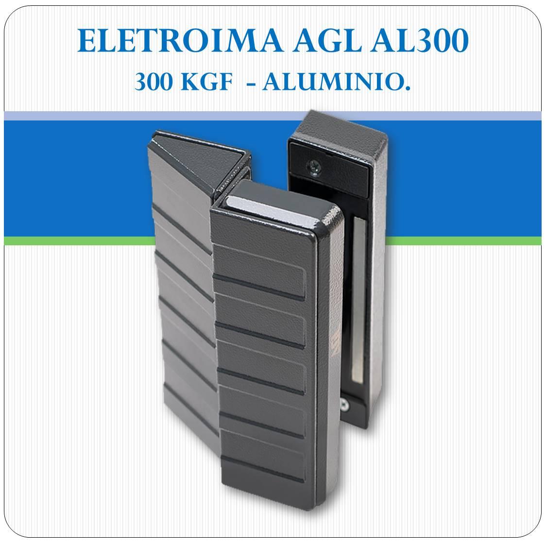 Fechadura Eletroimã AL 300 - 300Kgf (AGL)