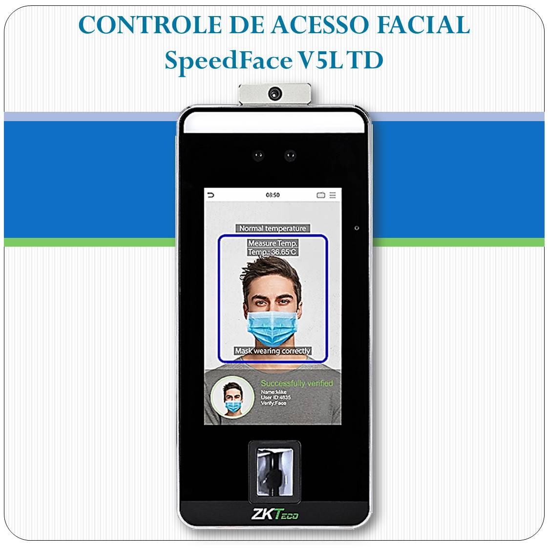 Controle de Acesso Facial - SpeedFace V5L TD