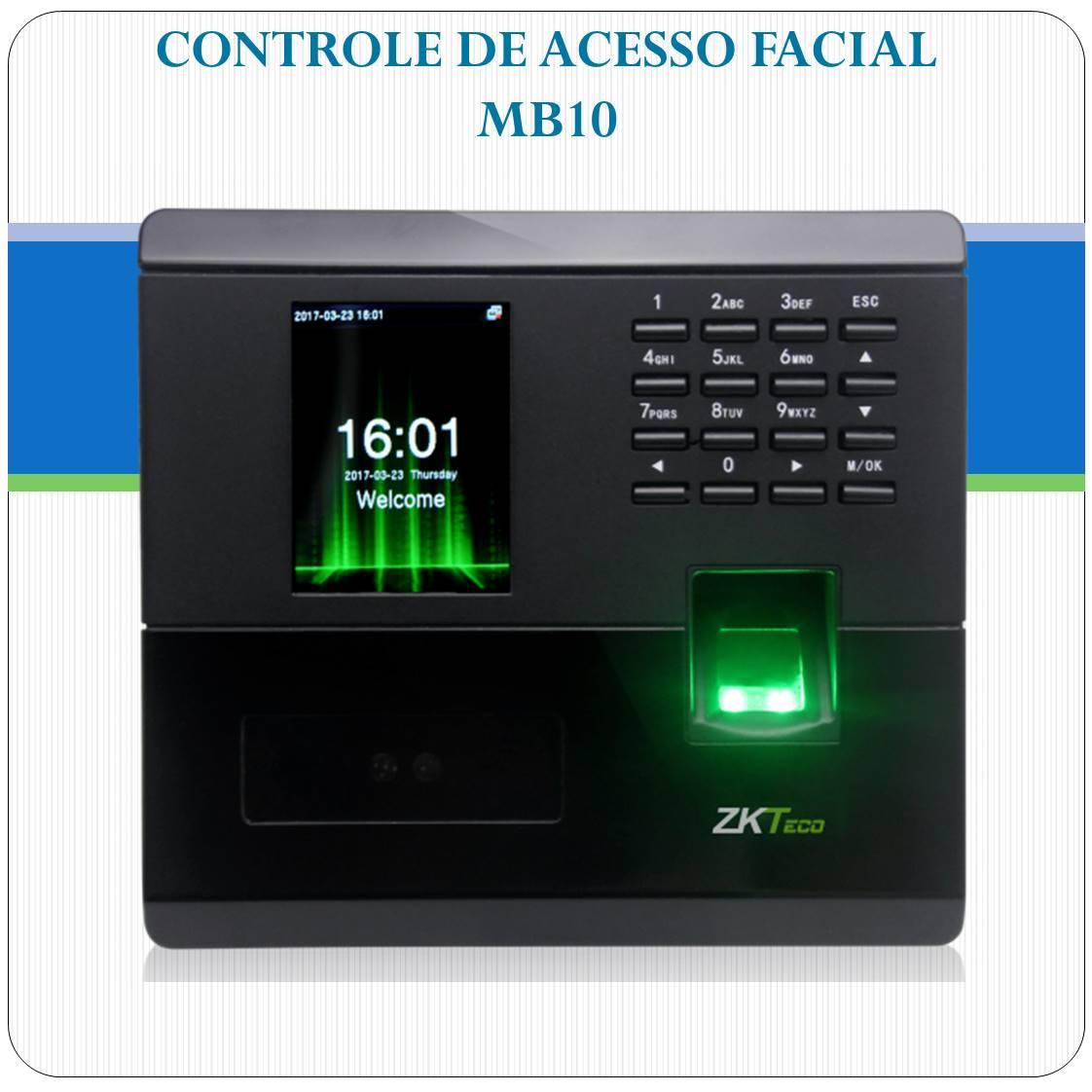 Controle de Acesso Facial + Impressão Digital - MB10