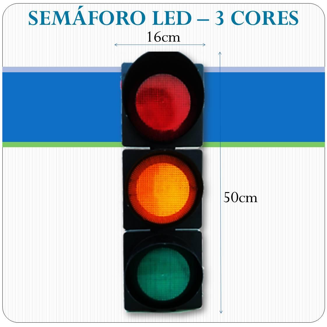 Semáforo LED - 3 Cores