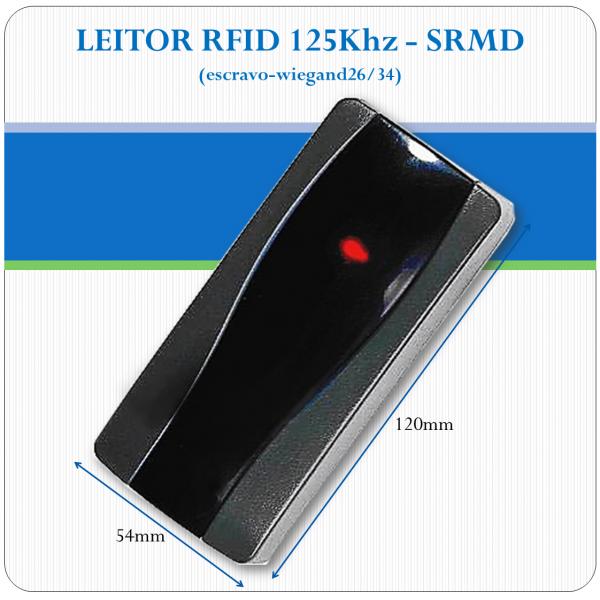 Leitor de RFID slave - SRMD - 125Khz (26/34bits)