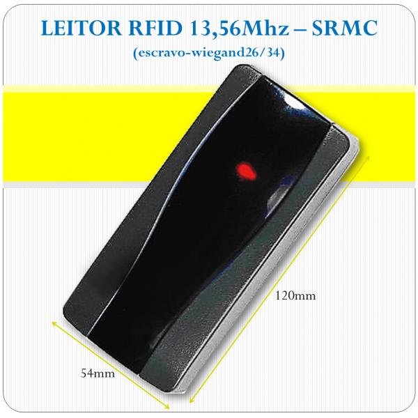 Leitor de RFID slave - SRMC - 13,56Mhz (26/34bits)
