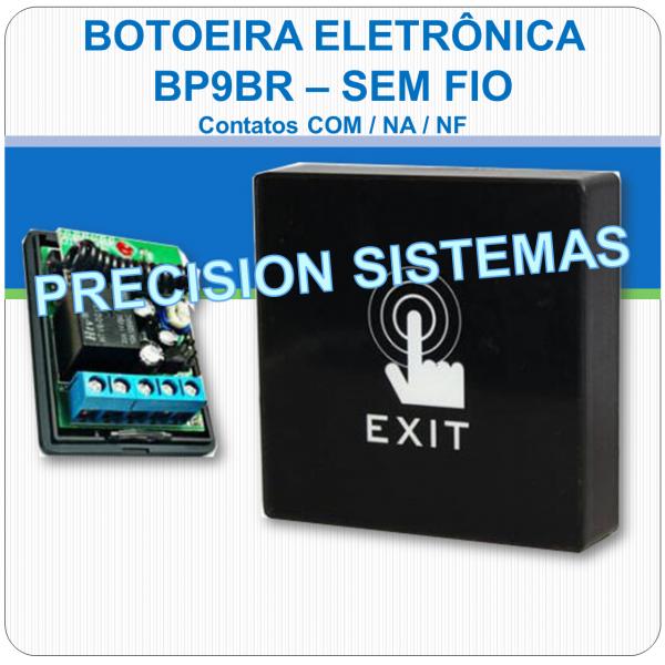 Botoeira Eletrônica Touch de Sobrepor NA-C-NF - BP9BR - Sem Fio