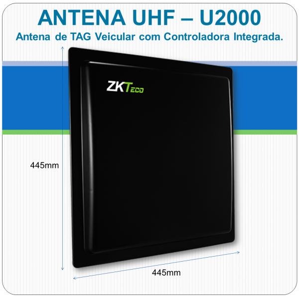 Antena UHF de Tag Veicular com Controladora de Acesso Integrada U2000