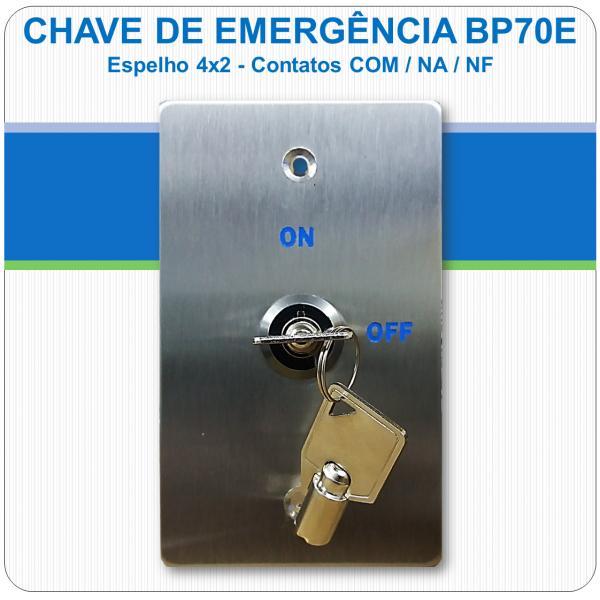 Chave de Emergência 4x2 - Contato NF-C-NA - BP70E