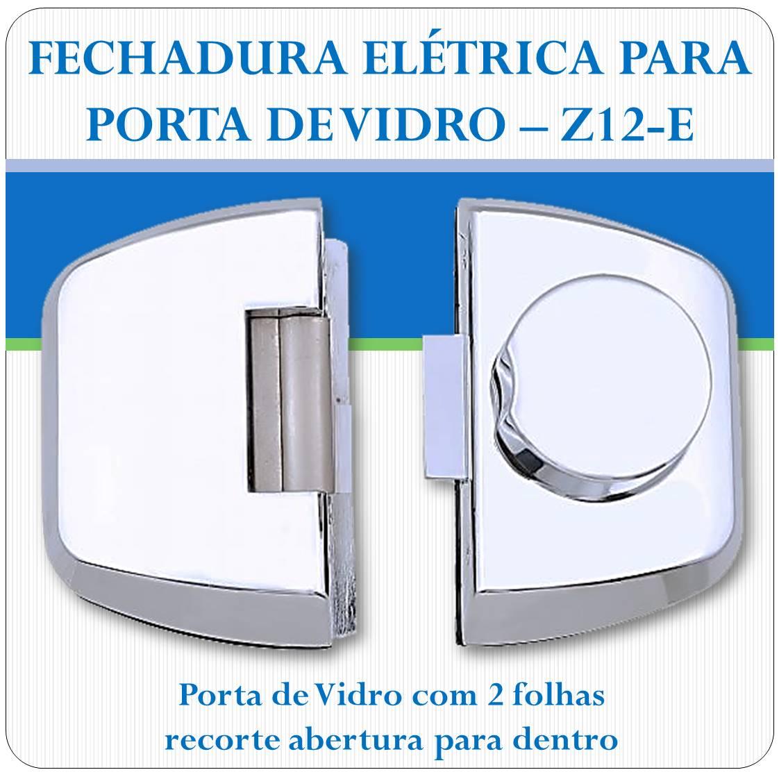 Fechadura Eletrica Porta de Vidro - Z-12E