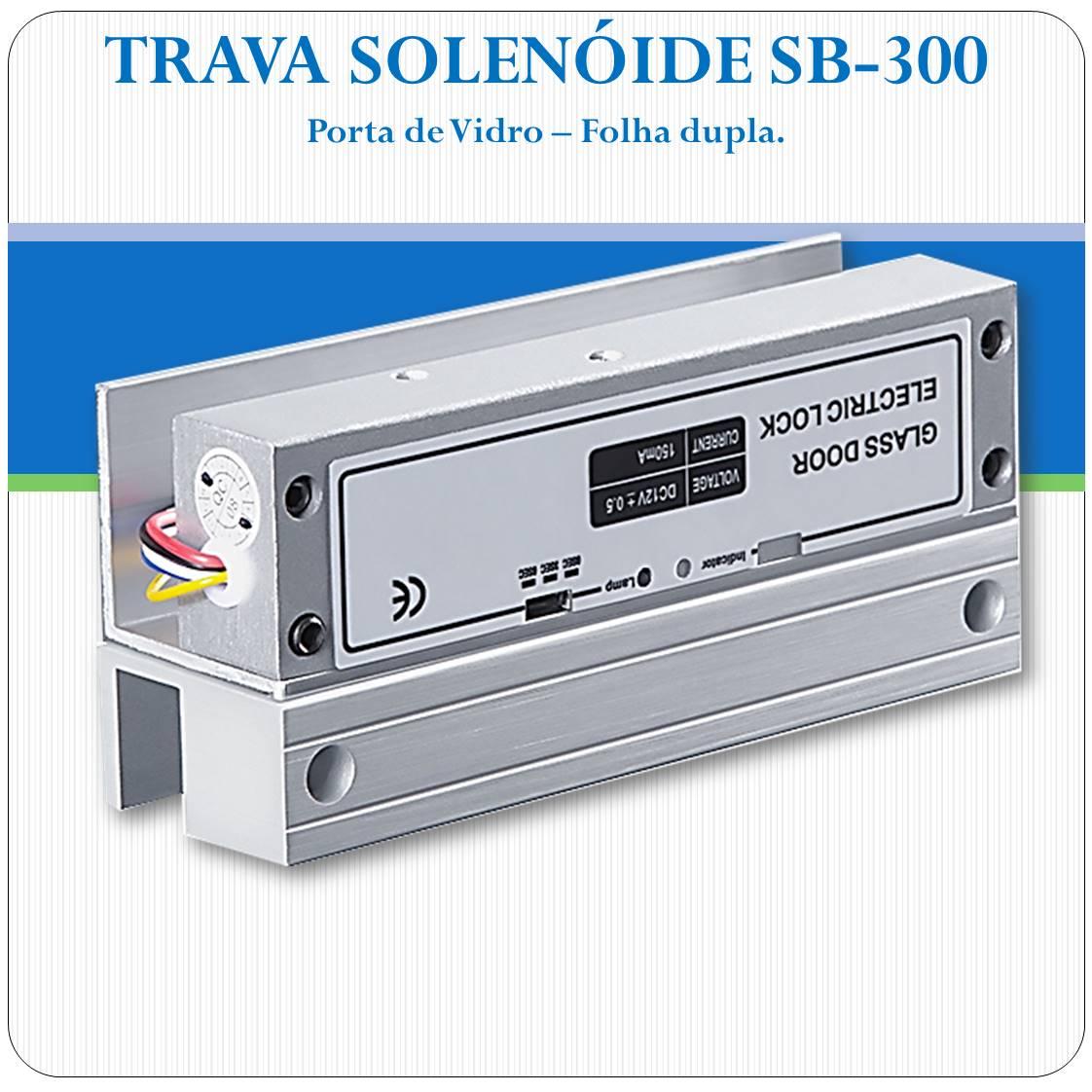 Trava elétrica Solenoide 12V para Portas de Vidro - SB300