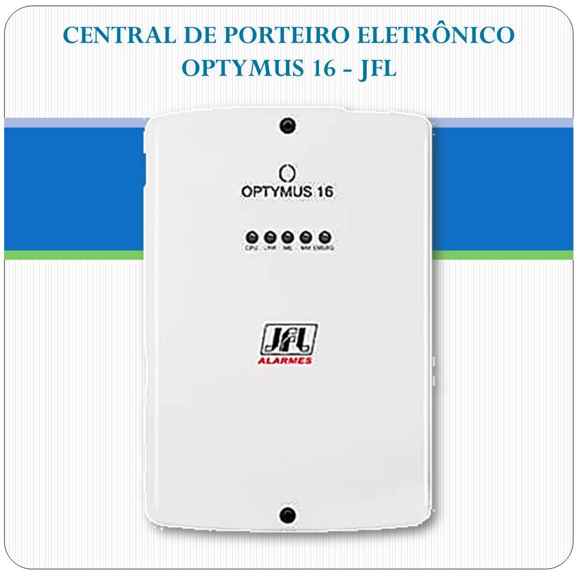 Central de porteiro eletrônico para até 17 ramais - Optymus-16