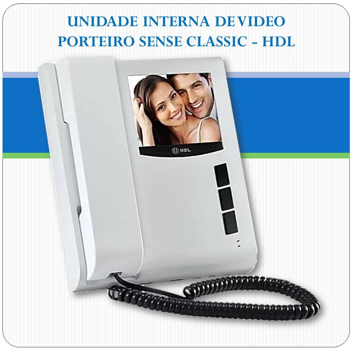 Unidade Interna de Vídeo Porteiro SENSE Classic - HDL