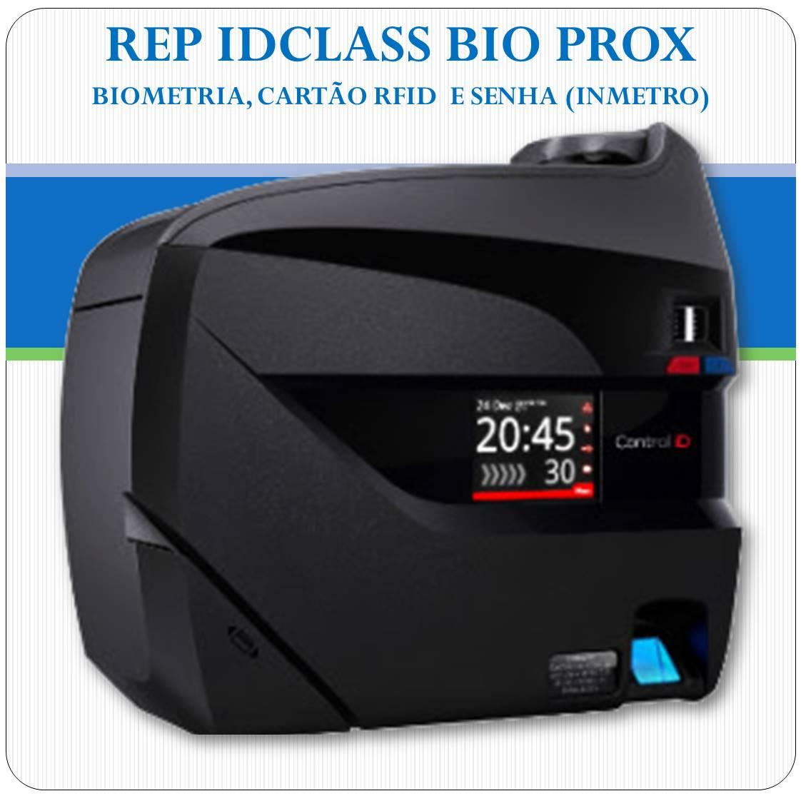 REP iDClass BIO PROX - Biometria, RFID e Senha - Inmetro
