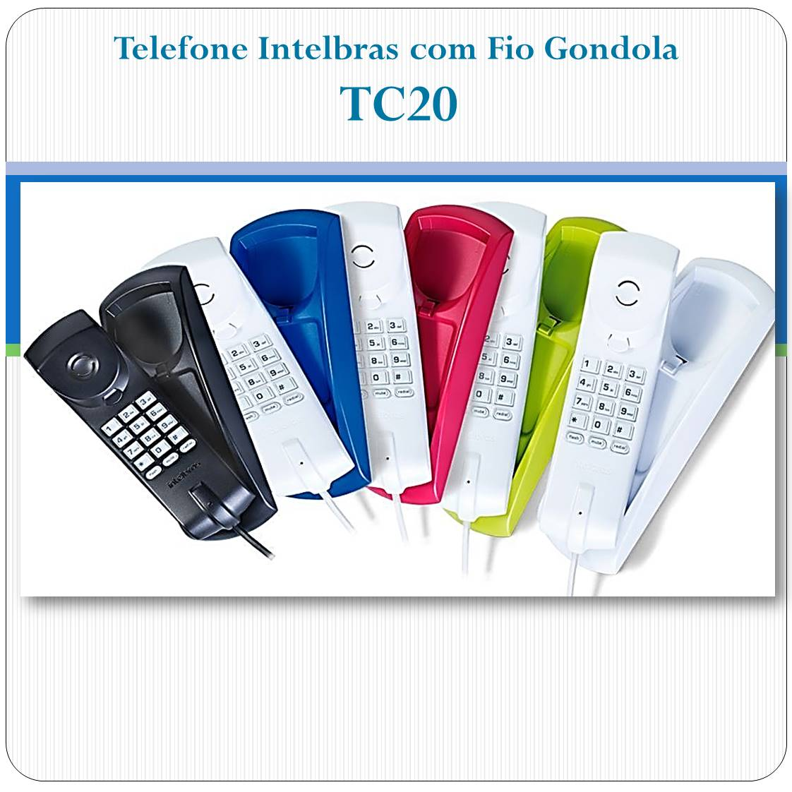 Telefone Intelbras com Fio Gondola TC20