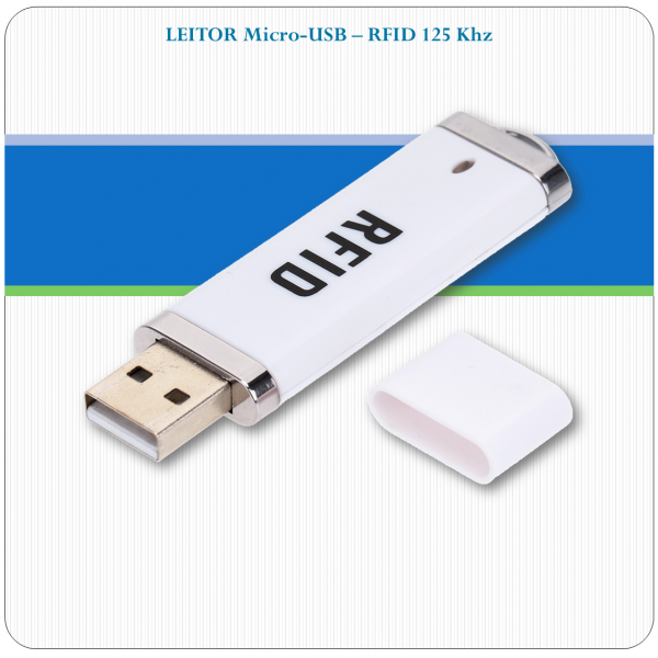 Leitor de RFID USB - 125Khz - Android