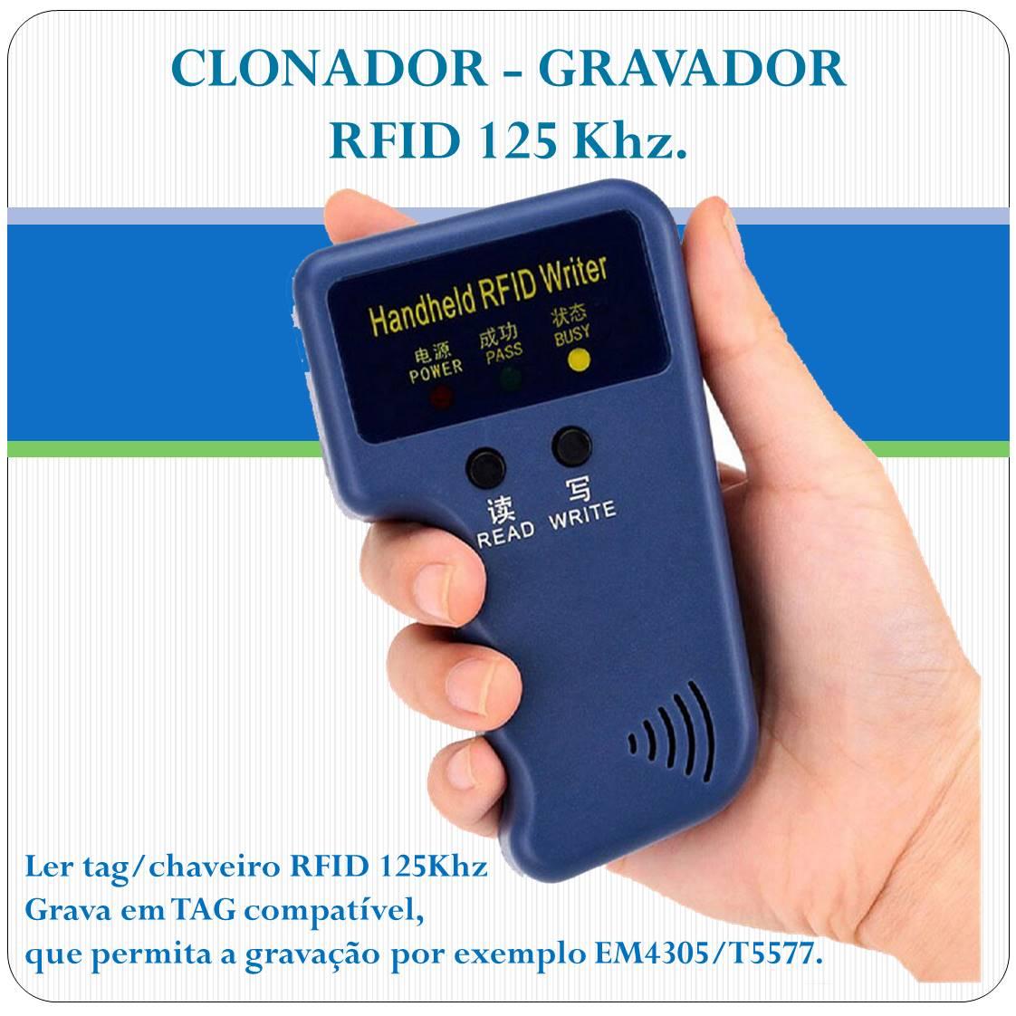 Clonador de TAG RFID 125Khz