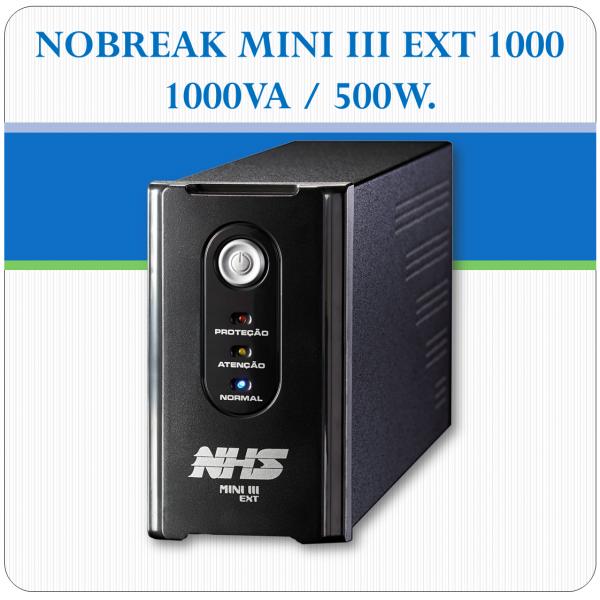 Nobreak MINI III EXT 1000 - 1000VA / 500W