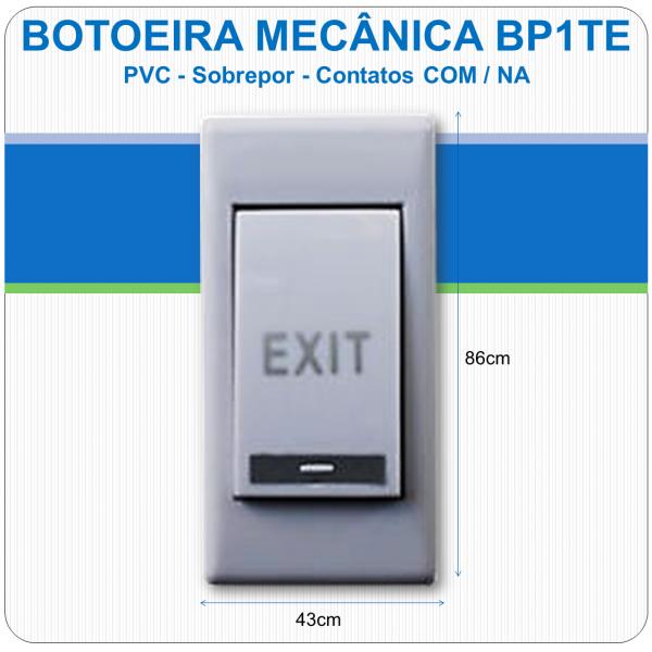 Botoeira Mecânica de Sobrepor PVC - BP1TE