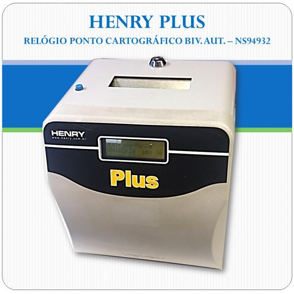HENRY PLUS (RELÓGIO PONTO CARTOGRÁFICO) NS94932