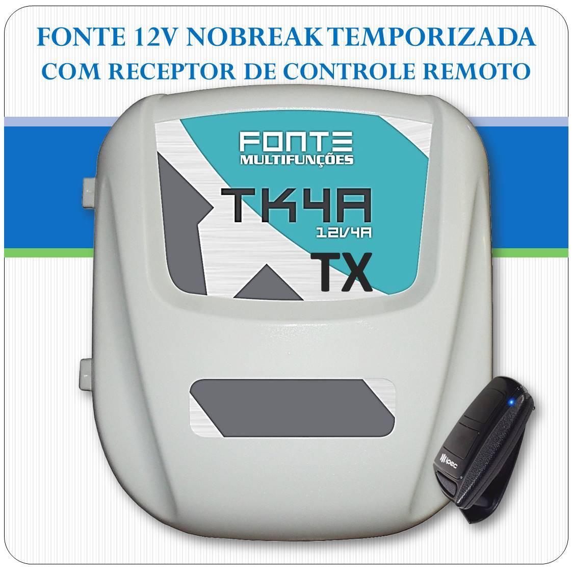 Fonte de Alimentação com Nobreak 12Vcc 7A - Temporizada - TX
