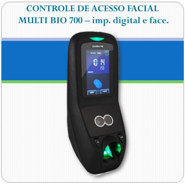 Controle de Acesso Facial + Impressão digital - MultiBIO 700